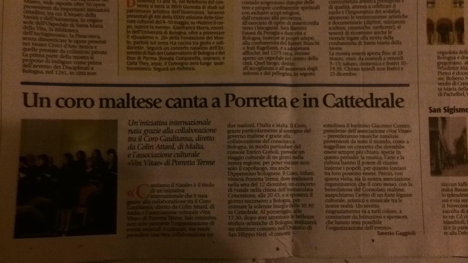 Newspaper report - Bologna7, un allegato bolognese dell'Avvenire