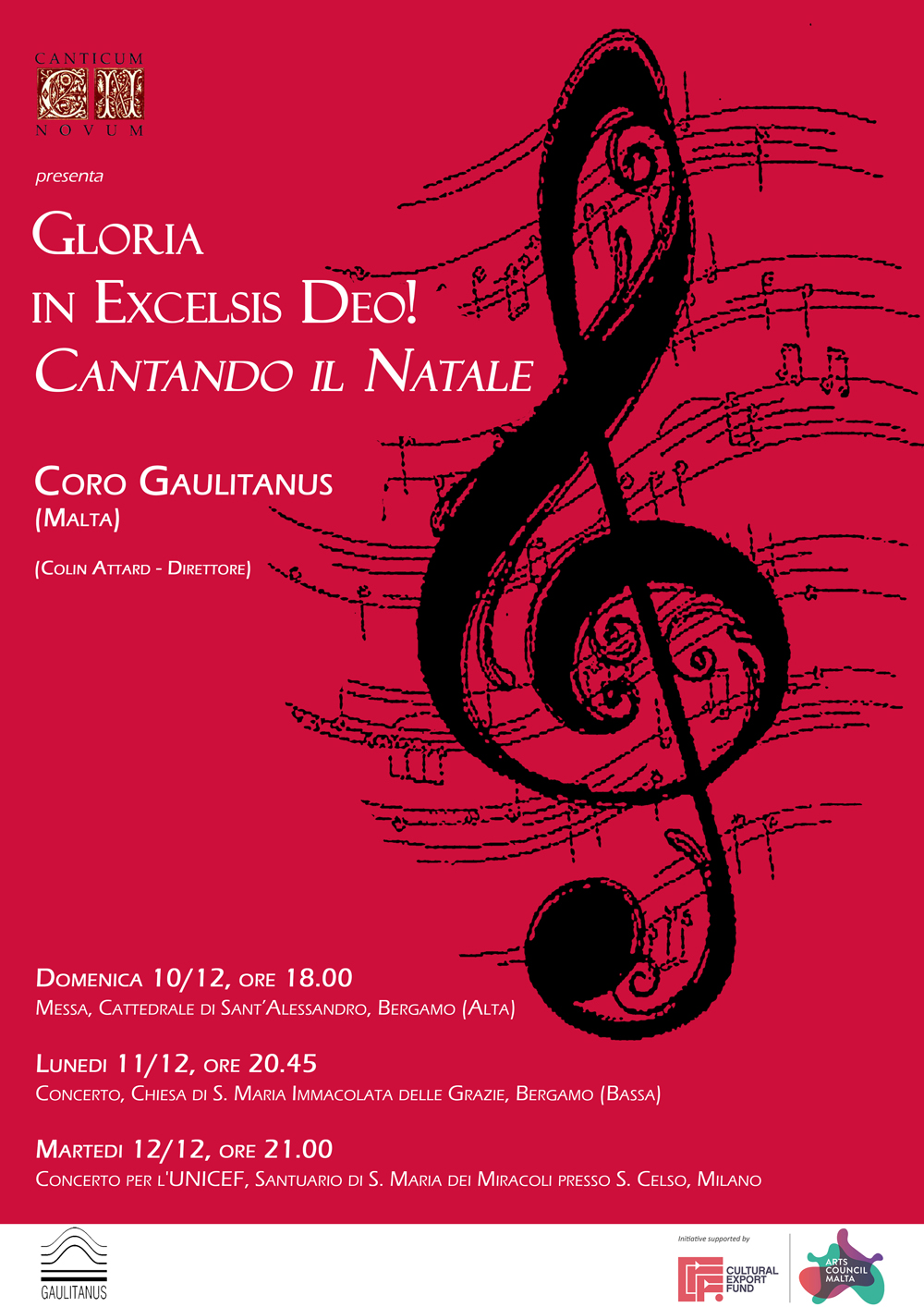 Gaulitanus Choir for Lombardia (Italy) concert-tour